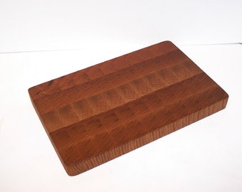 OOAK End Grain Cutting Board / Chopping Block Handcrafted from Oak Hardwood