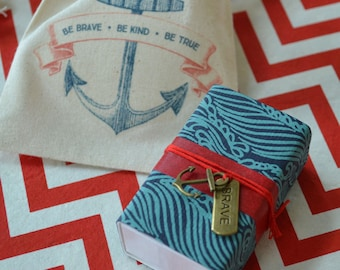 Be Brave Message Box with anchor/nautical theme, Graduation gift