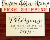 Calligraphy Handwriting Script Custom Return Address Stamp - Personalized Wedding Stationery Stamper - Style 1280J