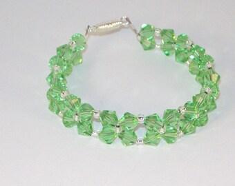Swarovski Crystal Jewelry - Bridal Bracelet - Peridot - MADE TO ORDER