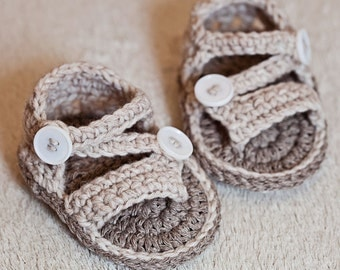 Instant download - Baby Booties Crochet PATTERN (pdf file) - Modern Flip Flops
