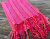 Pink Elephant Cast Handwoven Scarf
