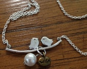 Birdy necklace with a wish and a promise