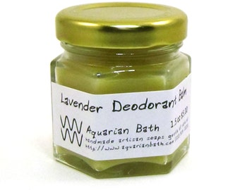 Lavender Cedarwood Deodorant Balm - Natural Deodorant - Organic Deodorant - Aluminum Free deodorant - Vegan 1.5 oz