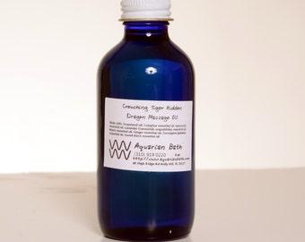 Crouching Tiger Hidden Dragon Massage Oil 4 oz - Aromatherapy Massage Oil - plastic free
