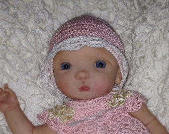 "8"" OOAK polymer clay Baby Doll"