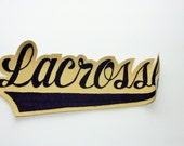 Vintage Lacrosse Patch, Letterman Jacket Patch, Vintage Sports Patch, Man Cave Decoration, Sports Bar Decoration