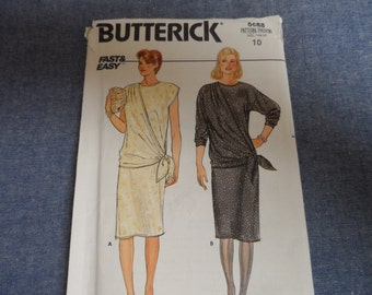 Butterick 6688 Misses Dress Pattern Size 10 Uncut