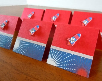 Fireworks and Rockets Mini Cards 2x2 (6)