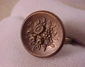 SALE Vintage Clothing Button Adjustable Ring - Free Shipping to USA