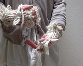 fingerless gloves knitting pattern . Faerie Mitts pattern . instant download PDF knit pattern  . fingerless fairy mittens knitting pattern