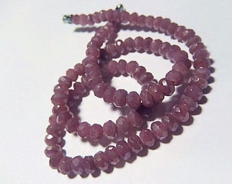 RUBY Gemstone, Faceted Rondelles, 6mm Precious Gemstone Rondelle.   Semi Precious Gemstone. Your Choice.  (55rb2).