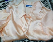 Vintage 1940s PEACH PAJAMAS Small Medium Kampus Kuties