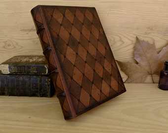 Leather Journal / Blank Book - Brown Leather, Artist Quality Paper, Thoughts