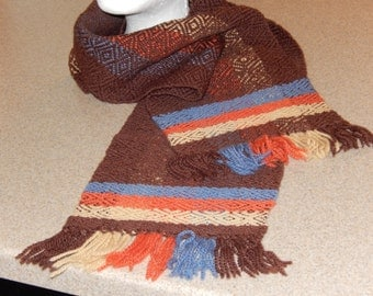 8 x 54 Hand Woven Wool Neck Scarf