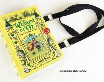 The Wizard of Oz Book Purse - Wonderful Wizard of Oz Book Clutch - Wicked Witch Shoulder Book Cover Handbag