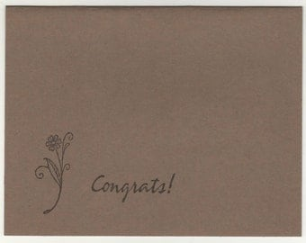 congrats blank card and envelope
