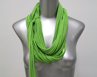 Green Scarf, Lime Green Scarf, Green Scarves, Womens, Green Necklace, Lime Green Necklace, Green Infinity Scarf, Gift For Women, Girlfriend