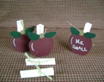 Apple Chalk Holder - Personalized Teacher Gift