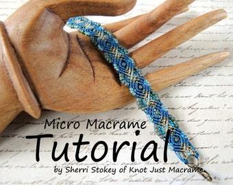 Micro Macrame Tutorial - Peacock Bracelet - Pattern - Beaded Macrame - Jewelry Making - DIY