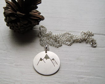 The Mountains Cutout Necklace