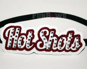 Set of two Custom Rhinestone Headbands HOTSHOTS by FunBows !