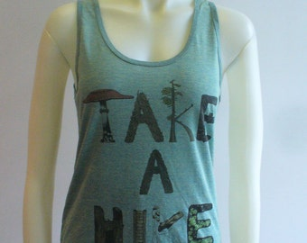3 LEFT  Take a Hike Tank Green