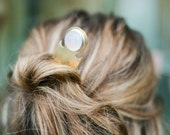 brass hairpin, hair accessories, bridal jewelry, hair jewelry, hair fork, moonstone, silver // RIF HAIR PIN