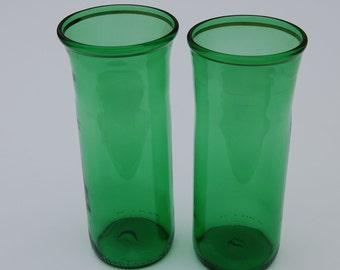 Set of two Heineken Beer Bottle Glasses