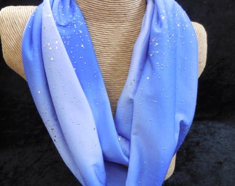 Lavender Shimmer Infinity Scarf with Sparkles and Hearts - Circle Scarf - Summer Scarf - Lightweight