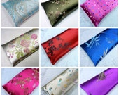 "Extra Long Eye Pillow Satin Flax Seed 10""x4"", Yoga Eye Pillow, and your choice of Lavender or Unscented"
