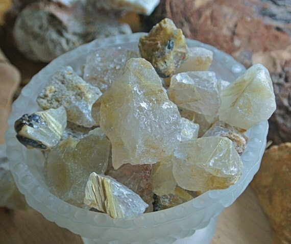 Rutilated Quartz Stones : Rutilated quartz healing crystals and stones rough