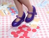 Blythe Purple Shimmer High Heeled Mary Jane shoes