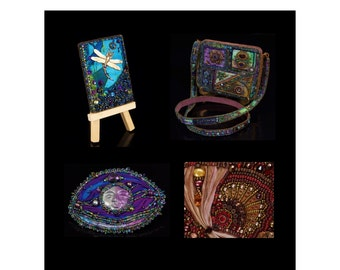 Mixed Media Bead Embroidery: ATCs (Artist's Trading Cards), A Purse, Barrettes and More
