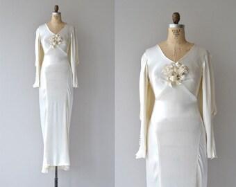 Inamourata wedding gown   1930s wedding dress • vintage 30s silk wedding gown