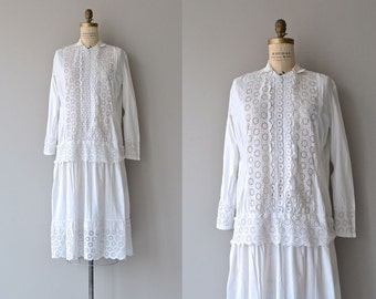 Lyric Year dress | 1920s dress | cotton eyelet 20s dress