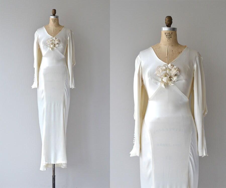 Inamourata Wedding Gown 1930s Wedding Dress Vintage 30s