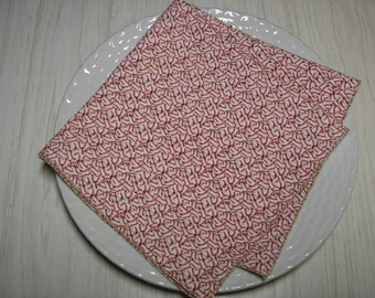 Cloth Napkins Baseball Lunch Dinner Set of 4