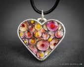 Polka-a-dot Millefiori Mosaic - Wearable Art - Pendant Necklace