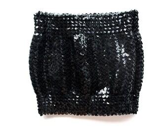 Black Sequin Tube Top
