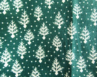 FREE SHIPPING Winter Forest Fabric in Green - Christmas Fabric (F024) - Fat Quarter