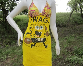 Spongebob Squarepants SWAG t shirt bikini dress