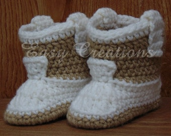 CROCHET PATTERN Single Strand Cowboy Cowgirl boots booties western rodeo baby babies boy boys girl girls 0 to 6 mo skill level intermediate