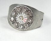 Vintage watch part cuff bracelet