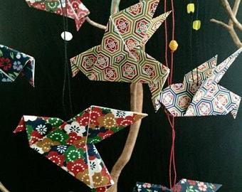 Hanging Origami Birds 2.5in