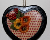 Heart Mixed Media wall hanging
