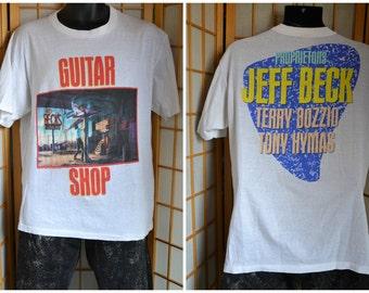 """1989 Jeff Beck """"Guitar Shop"""" tour shirt"""