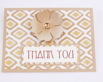 Tribal Thank You Card, Floral Thank You Card