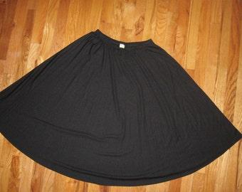 Vintage Black Circle Skirt