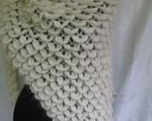 wedding  shawl,Crocodil Shawl,İvory shawl